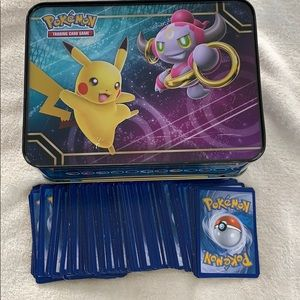 Pokémon trading card lock box case and cards